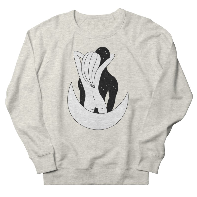 Love You To The Moon And Back Men's French Terry Sweatshirt by PENARULIT's Artist Shop