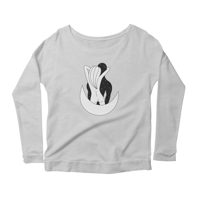Love You To The Moon And Back Women's Scoop Neck Longsleeve T-Shirt by PENARULIT's Artist Shop