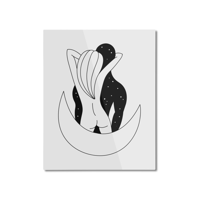 Love You To The Moon And Back Home Mounted Aluminum Print by PENARULIT illustration