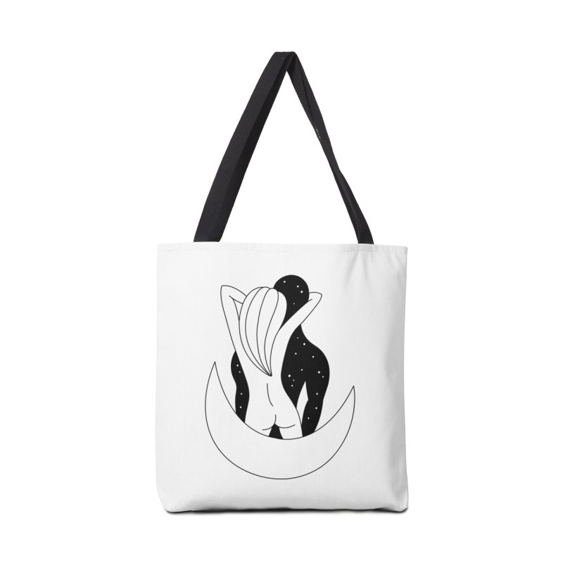 Love You To The Moon And Back Accessories Tote Bag Bag by PENARULIT illustration