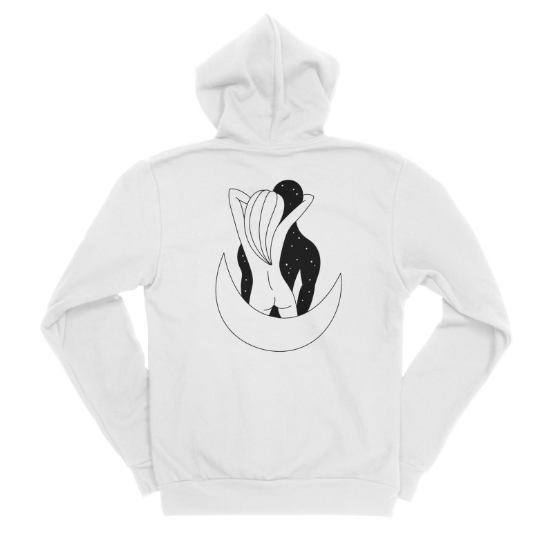 Love You To The Moon And Back Men's Zip-Up Hoody by Ekaterina Zimodro's Artist Shop