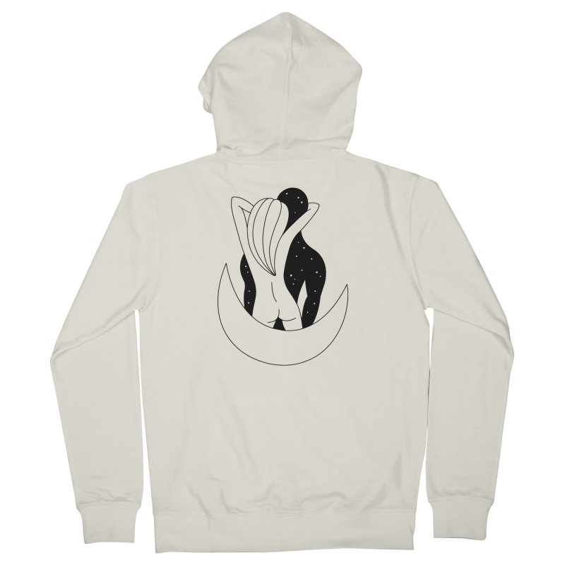 Love You To The Moon And Back Men's Zip-Up Hoody by PENARULIT's Artist Shop