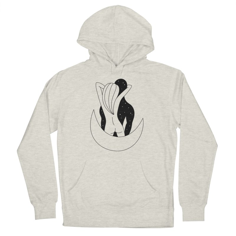 Love You To The Moon And Back Men's French Terry Pullover Hoody by Ekaterina Zimodro's Artist Shop