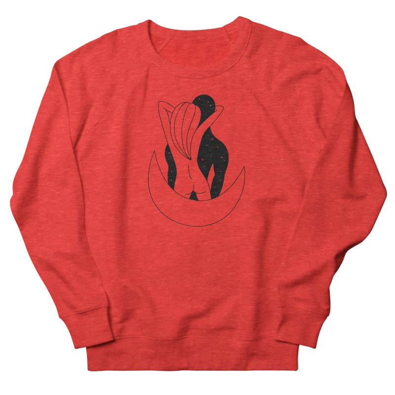 Love You To The Moon And Back Women's Sweatshirt by Ekaterina Zimodro's Artist Shop