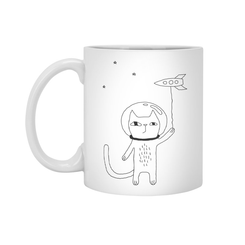 Space Cat Accessories Standard Mug by PENARULIT illustration