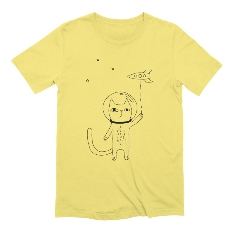 Space Cat Men's T-Shirt by PENARULIT's Artist Shop