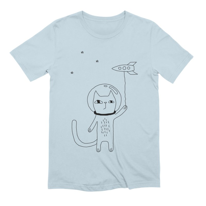 Space Cat Men's Extra Soft T-Shirt by PENARULIT illustration
