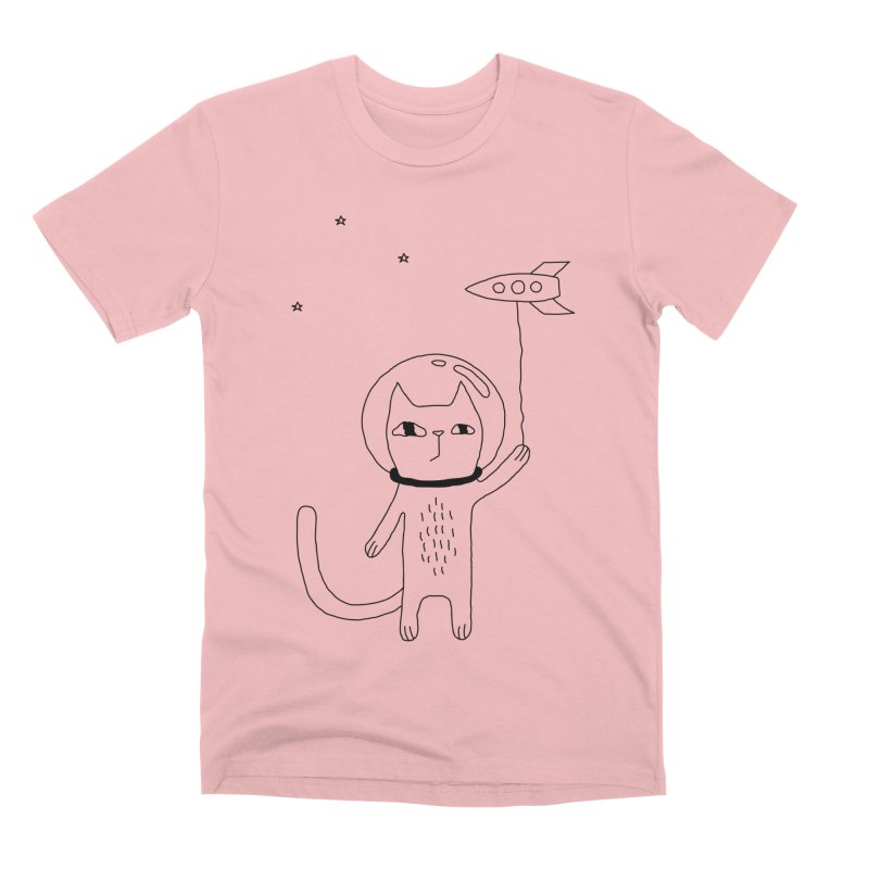 Space Cat Men's T-Shirt by PENARULIT illustration