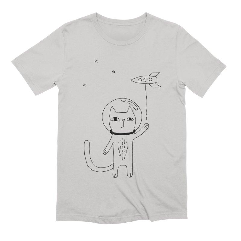 Space Cat Men's Extra Soft T-Shirt by PENARULIT's Artist Shop