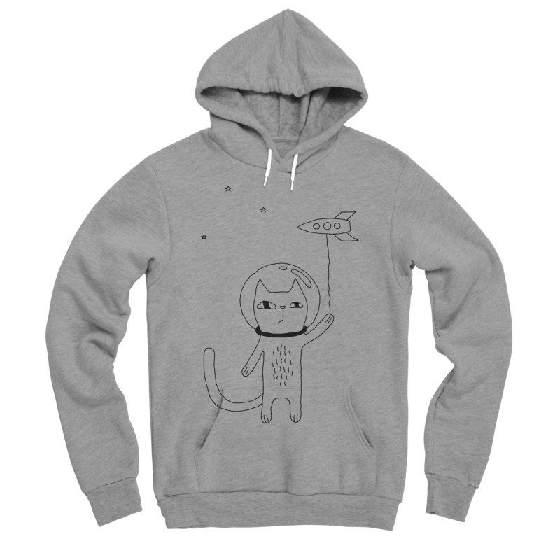 Space Cat Women's Sponge Fleece Pullover Hoody by PENARULIT's Artist Shop