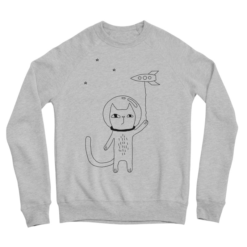 Space Cat Women's Sponge Fleece Sweatshirt by PENARULIT illustration