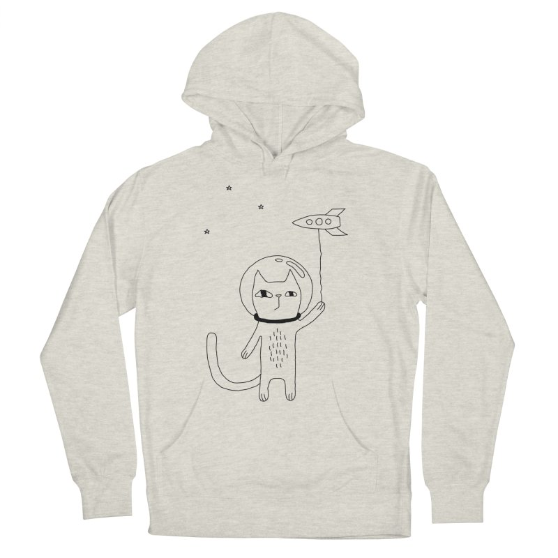 Space Cat Women's Pullover Hoody by Ekaterina Zimodro's Artist Shop