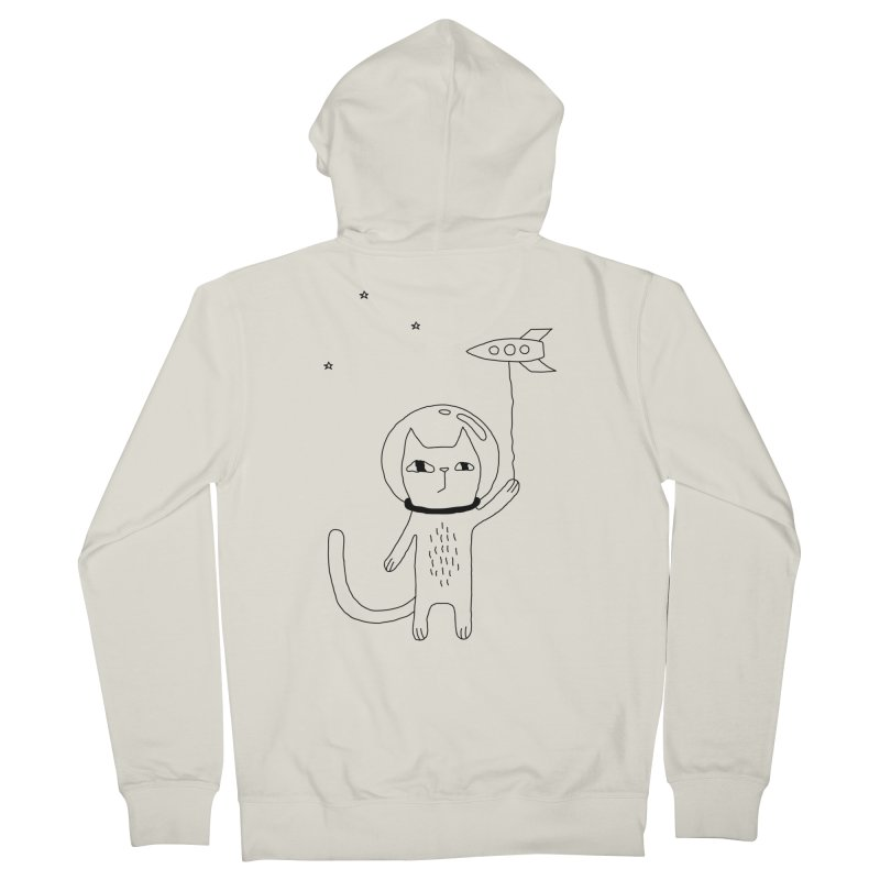 Space Cat Men's Zip-Up Hoody by PENARULIT's Artist Shop