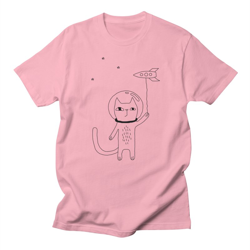 Space Cat Men's T-Shirt by Ekaterina Zimodro's Artist Shop