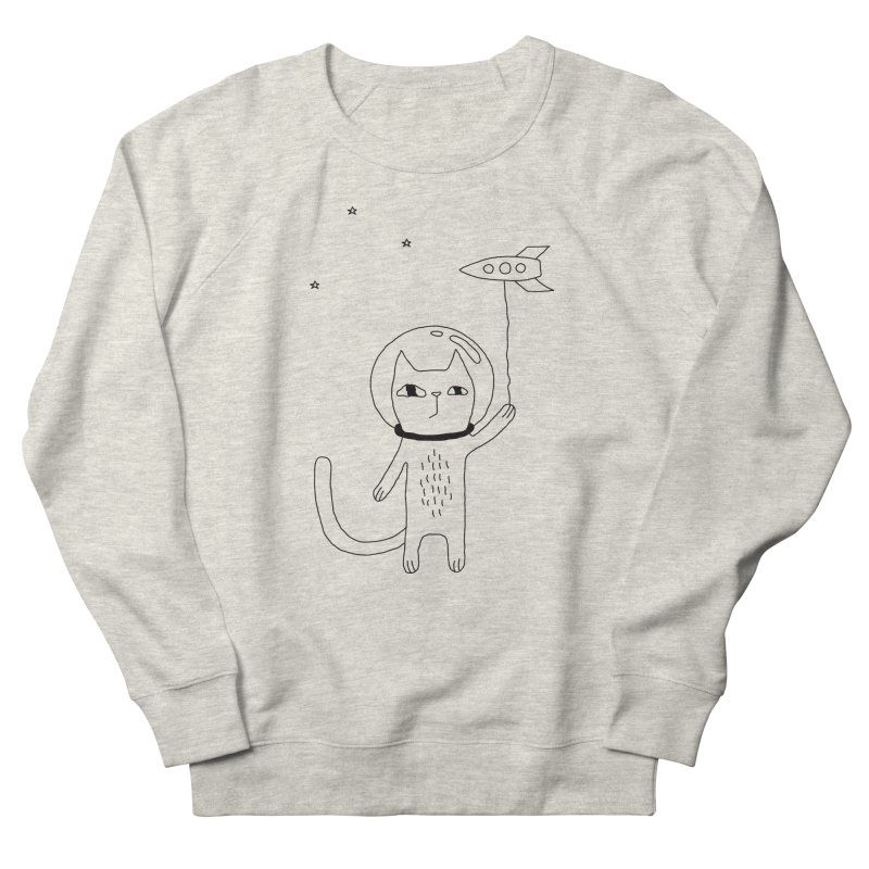 Space Cat Men's Sweatshirt by PENARULIT illustration