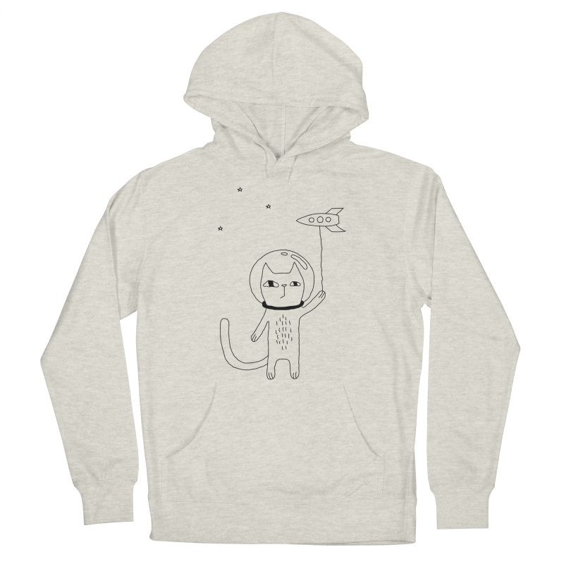 Space Cat Men's French Terry Pullover Hoody by PENARULIT illustration