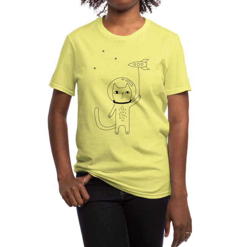 Space Cat Women's T-Shirt by Ekaterina Zimodro's Artist Shop