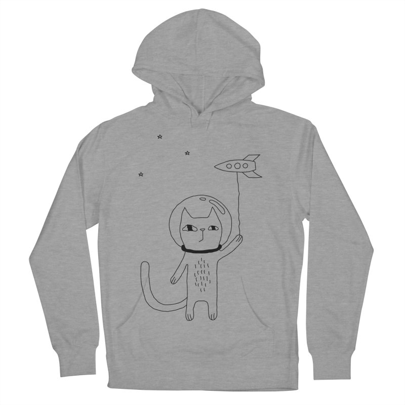 Space Cat Men's French Terry Pullover Hoody by PENARULIT's Artist Shop