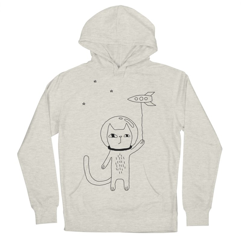 Space Cat Men's Pullover Hoody by PENARULIT illustration