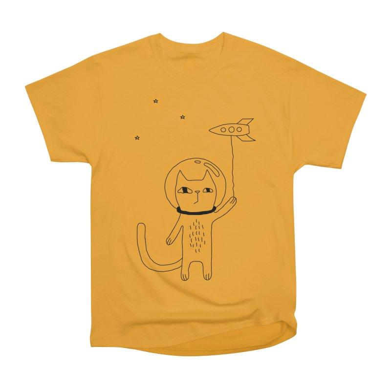 Space Cat Men's Heavyweight T-Shirt by PENARULIT's Artist Shop