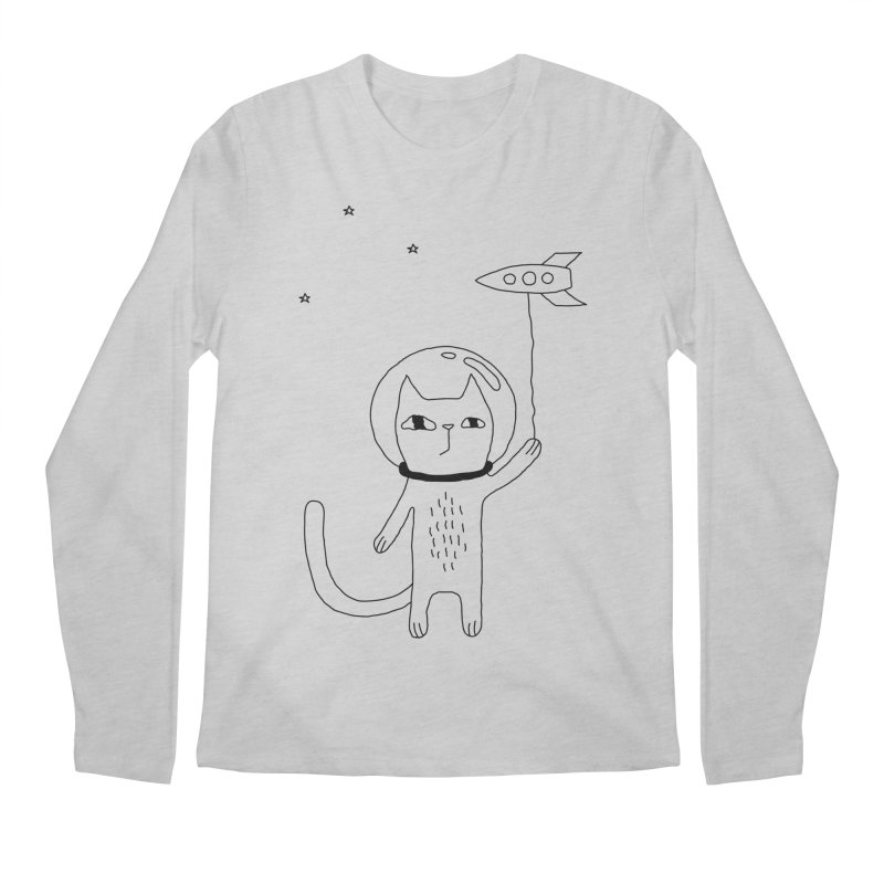 Space Cat Men's Regular Longsleeve T-Shirt by PENARULIT's Artist Shop