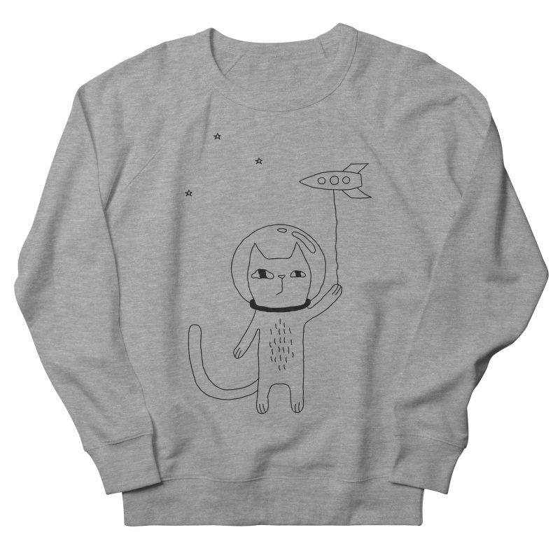 Space Cat Men's French Terry Sweatshirt by PENARULIT's Artist Shop