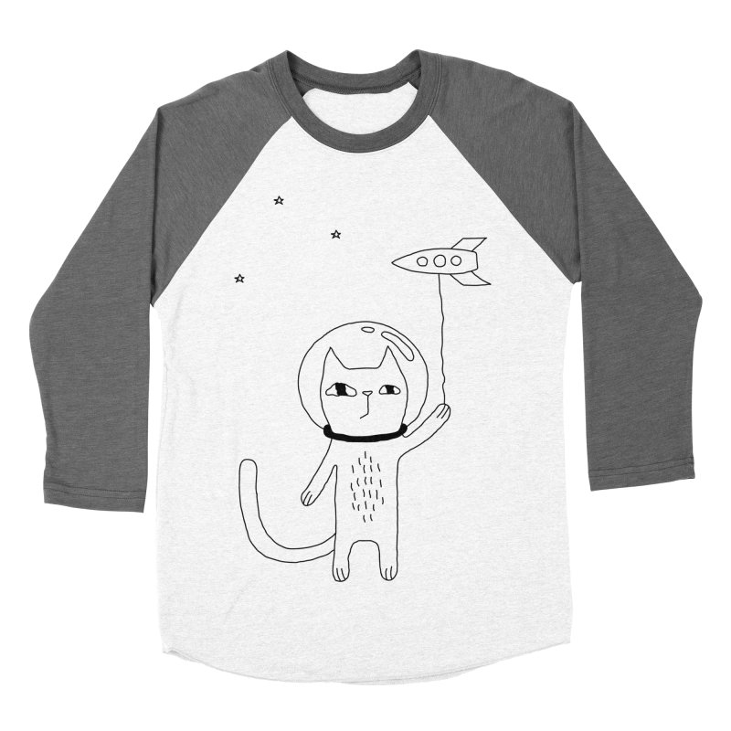 Space Cat Women's Baseball Triblend Longsleeve T-Shirt by PENARULIT illustration