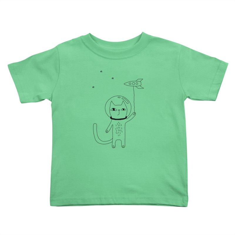 Space Cat Kids Toddler T-Shirt by PENARULIT's Artist Shop