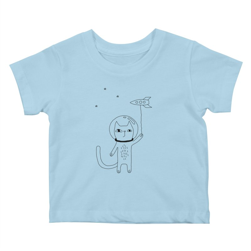 Space Cat Kids Baby T-Shirt by PENARULIT's Artist Shop