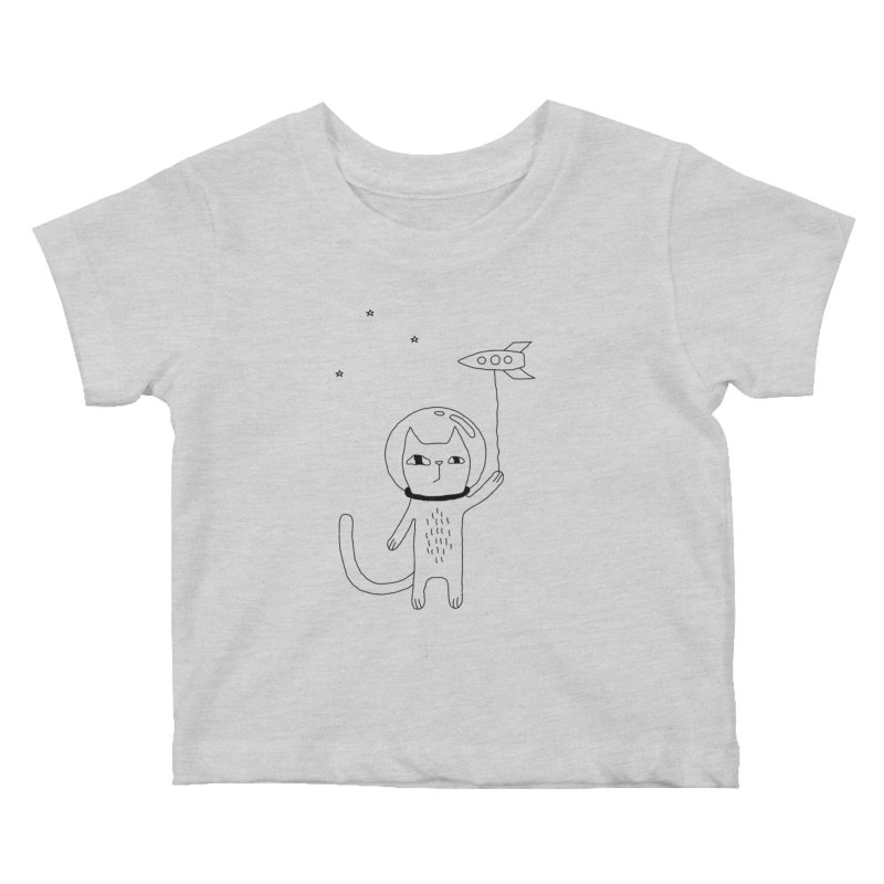 Space Cat Kids Baby T-Shirt by Ekaterina Zimodro's Artist Shop