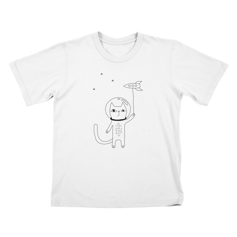 Space Cat Kids T-Shirt by PENARULIT illustration