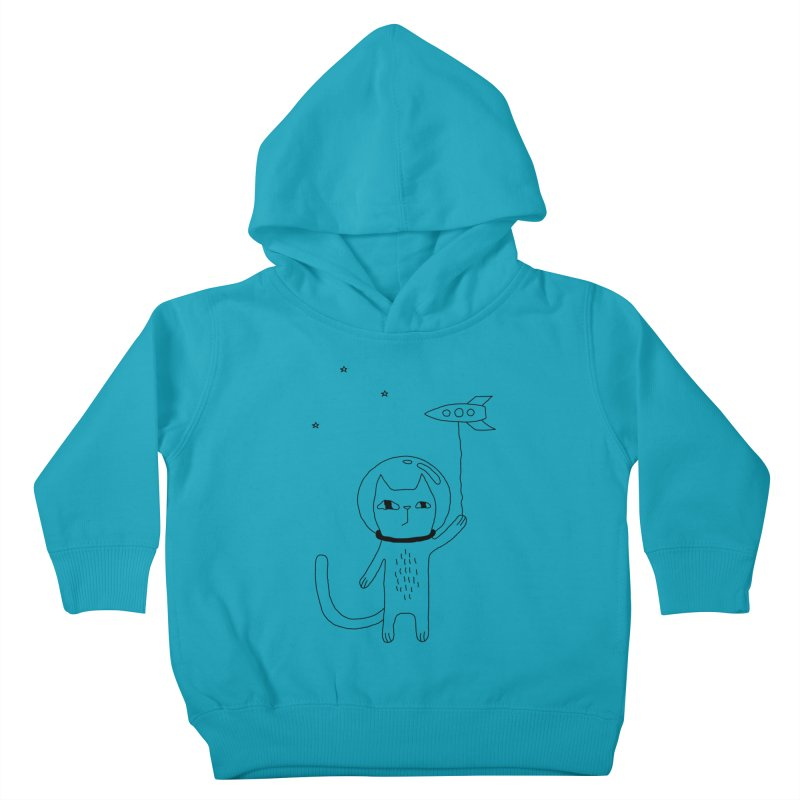 Space Cat Kids Toddler Pullover Hoody by PENARULIT's Artist Shop
