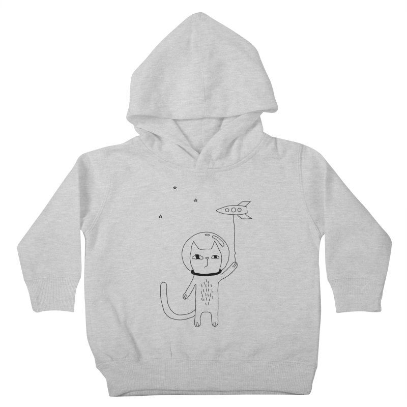 Space Cat Kids Toddler Pullover Hoody by PENARULIT illustration