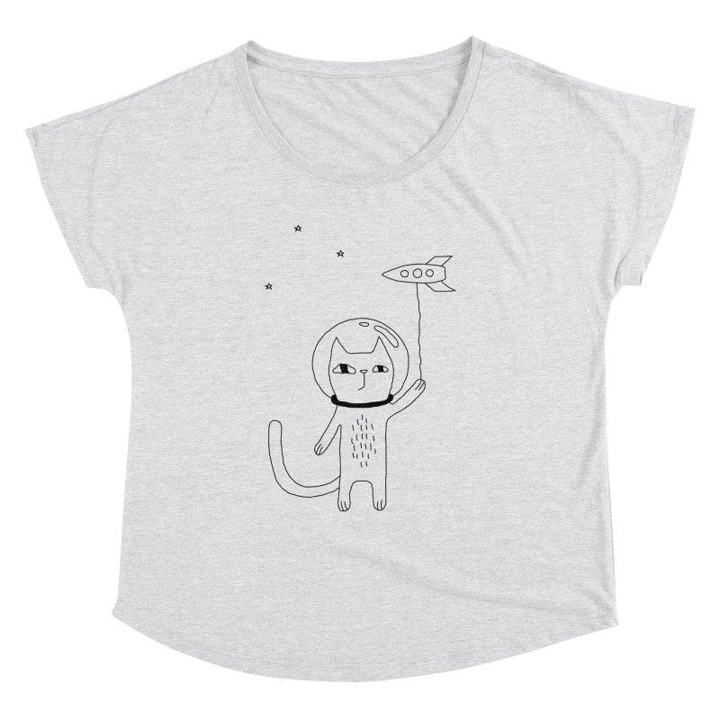 Space Cat Women's Dolman Scoop Neck by PENARULIT illustration