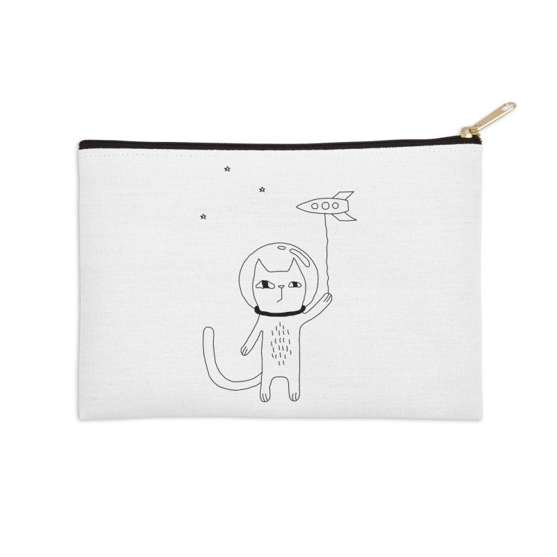 Space Cat Accessories Zip Pouch by PENARULIT's Artist Shop