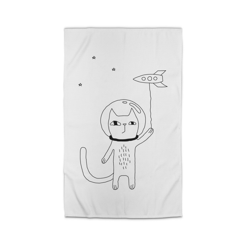 Space Cat Home Rug by PENARULIT illustration