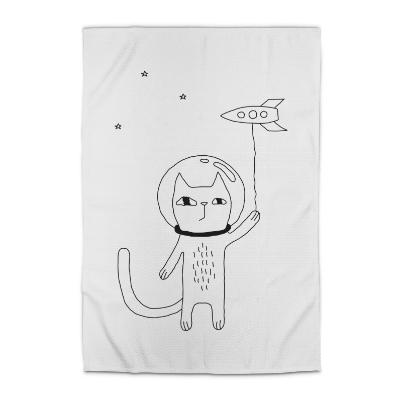 Space Cat Home Rug by Ekaterina Zimodro's Artist Shop