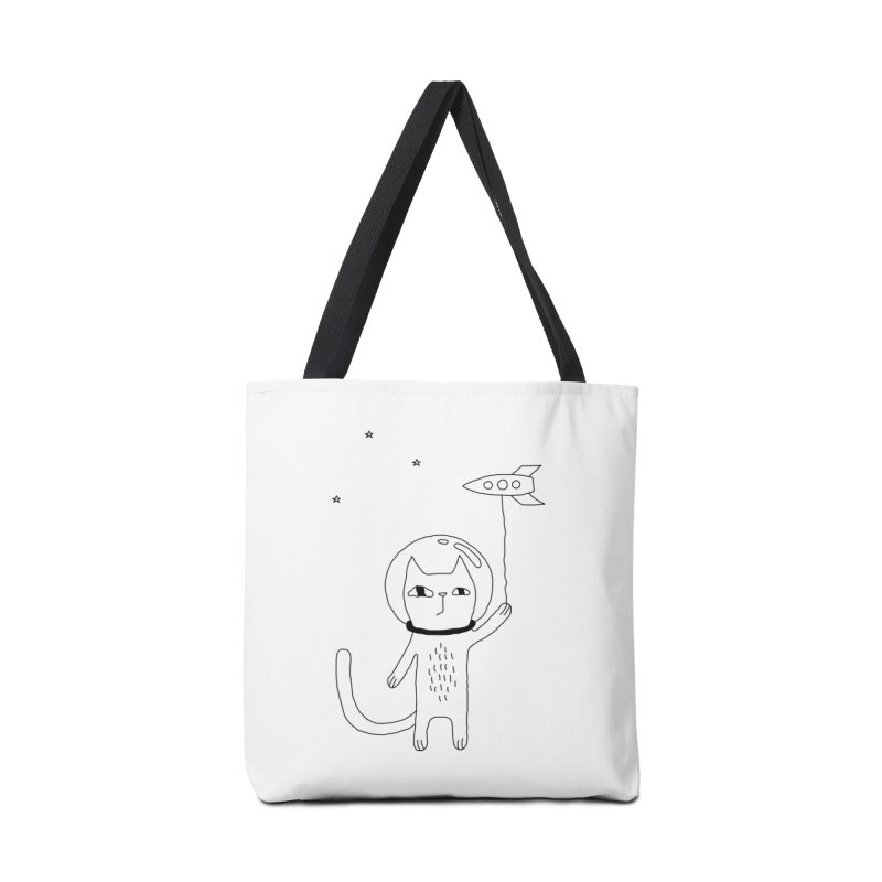 Space Cat Accessories Tote Bag Bag by PENARULIT illustration
