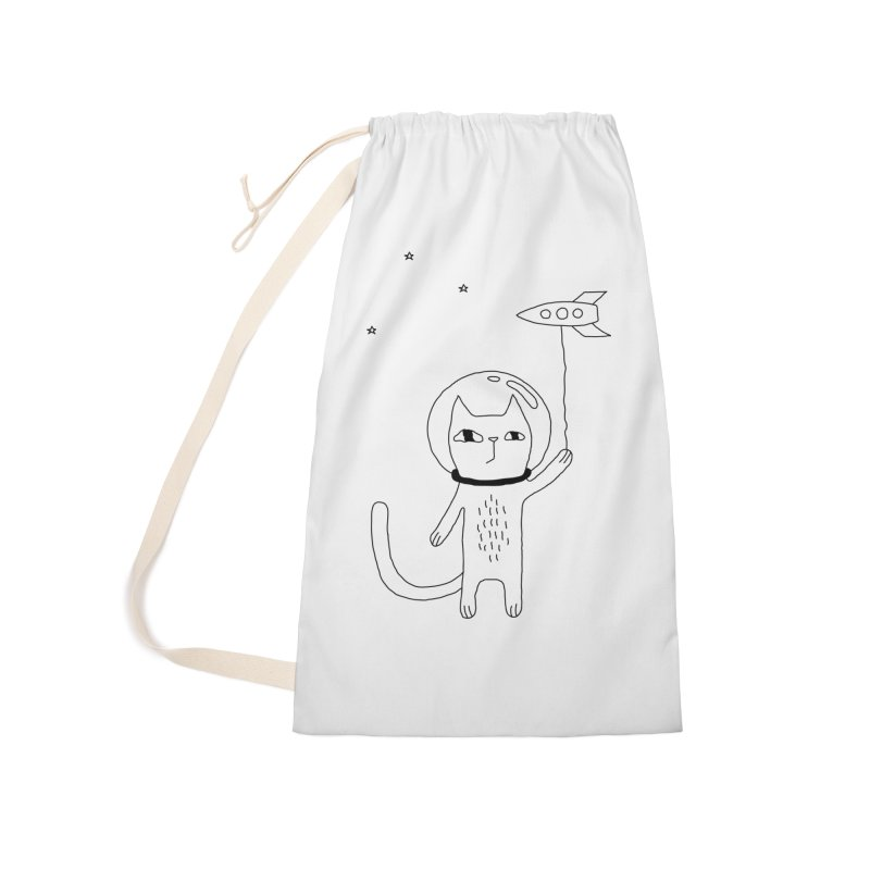 Space Cat Accessories Laundry Bag Bag by PENARULIT's Artist Shop