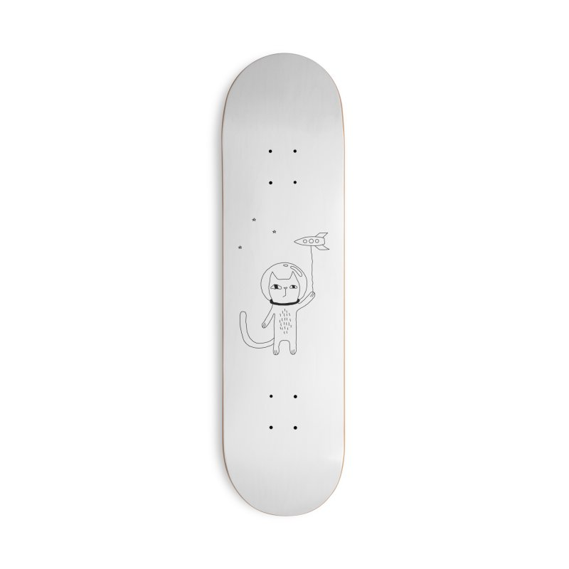 Space Cat Accessories Deck Only Skateboard by PENARULIT illustration