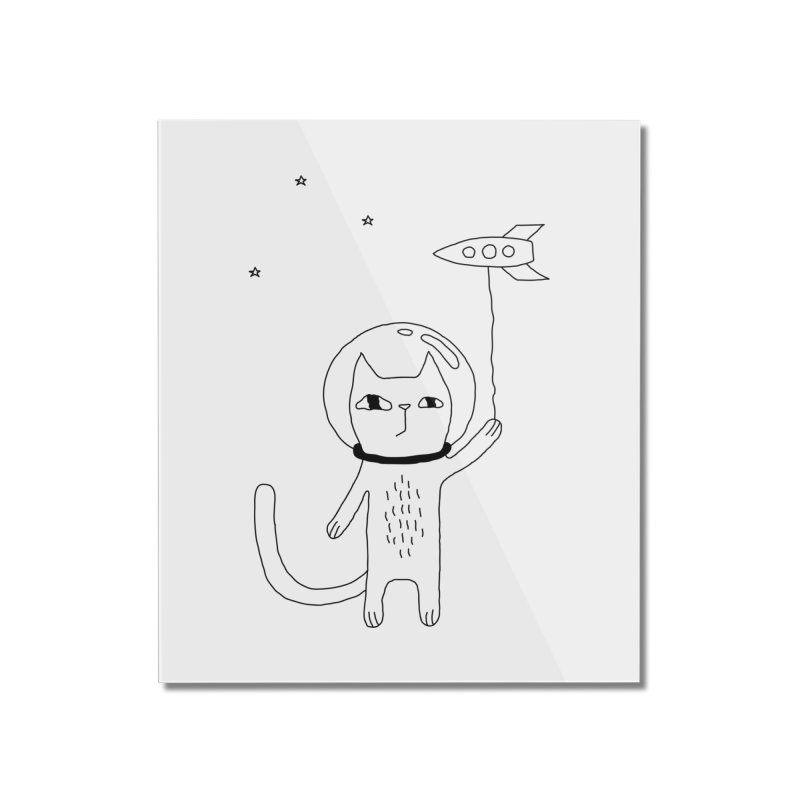 Space Cat Home Mounted Acrylic Print by PENARULIT's Artist Shop