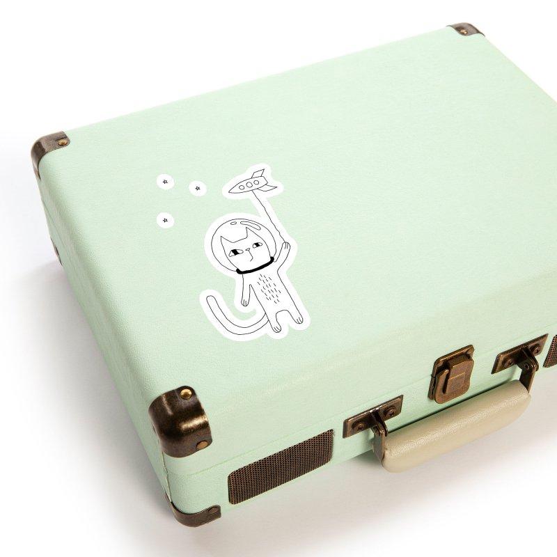 Space Cat Accessories Sticker by PENARULIT illustration