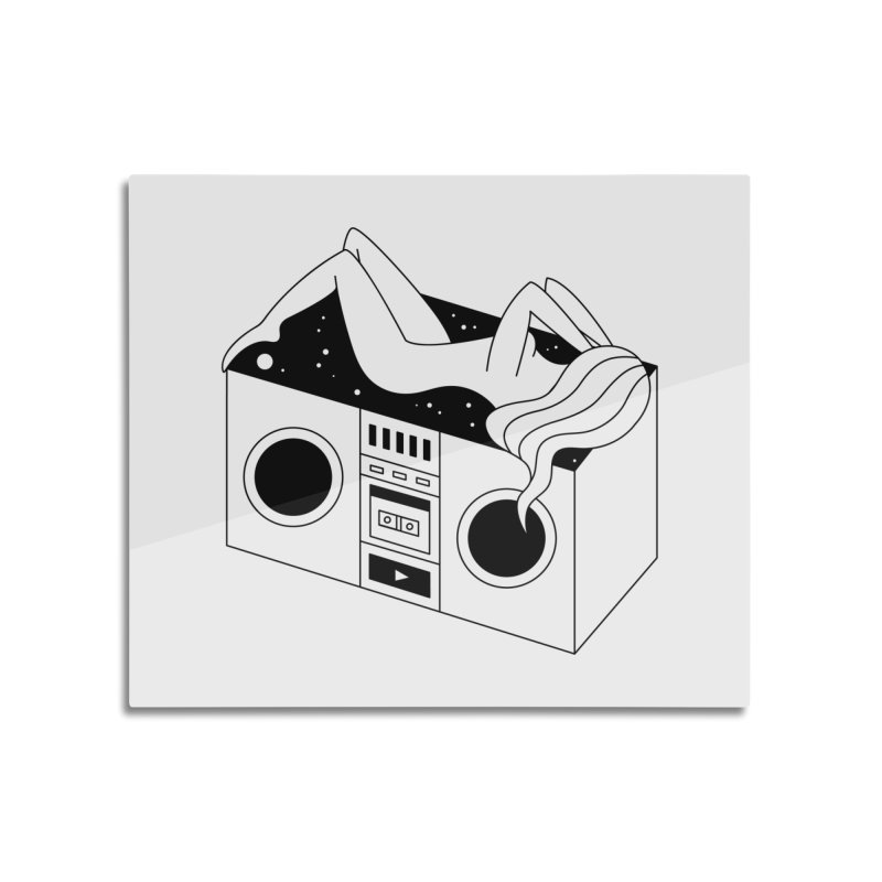 Euphoria Home Mounted Aluminum Print by PENARULIT illustration