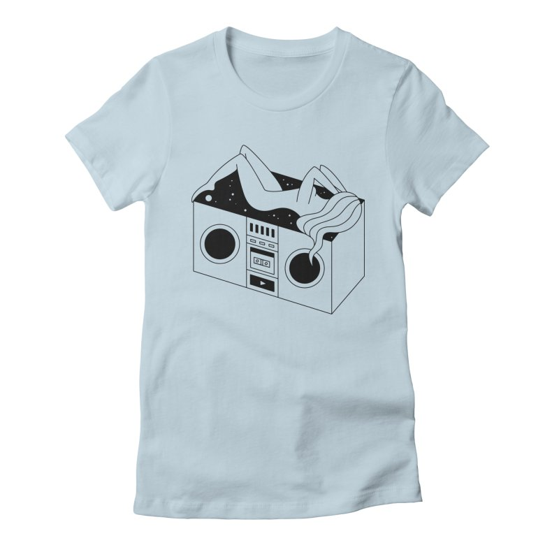 Euphoria Women's Fitted T-Shirt by PENARULIT illustration