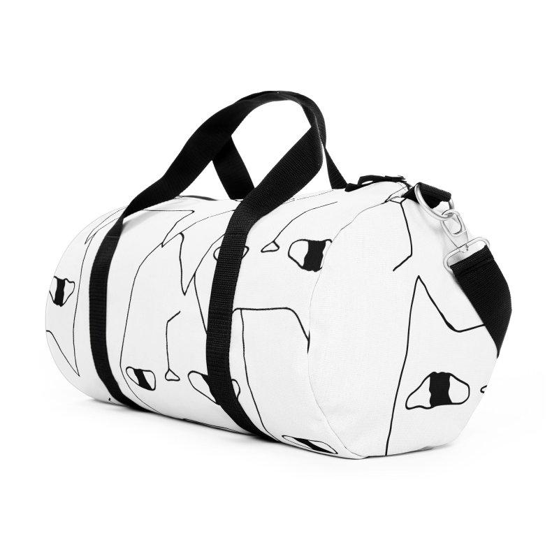 Cat Invasion Accessories Duffel Bag Bag by PENARULIT illustration