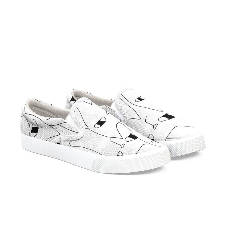 Cat Invasion Men's Slip-On Shoes by PENARULIT's Artist Shop