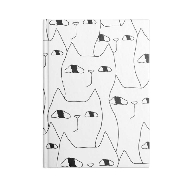 Cat Invasion Accessories Blank Journal Notebook by PENARULIT illustration