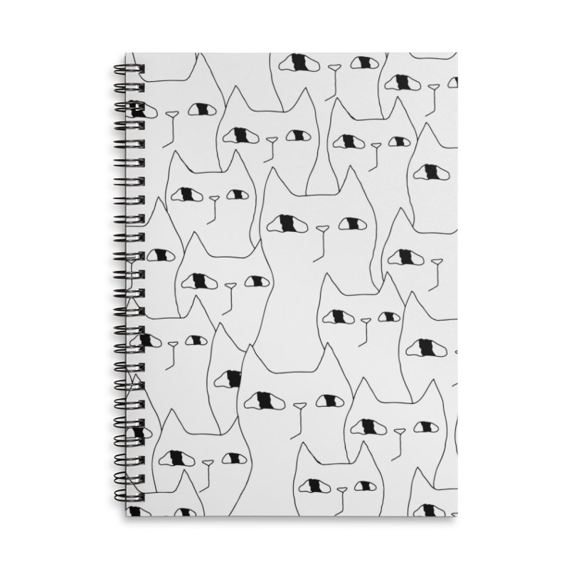 Cat Invasion Accessories Lined Spiral Notebook by PENARULIT illustration