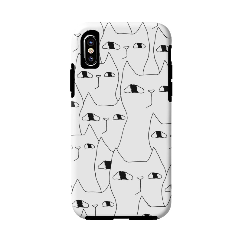 Cat Invasion Accessories Phone Case by Ekaterina Zimodro's Artist Shop