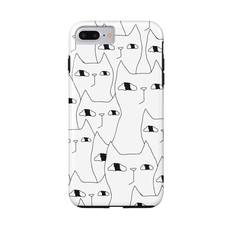 Cat Invasion Accessories Phone Case by PENARULIT illustration